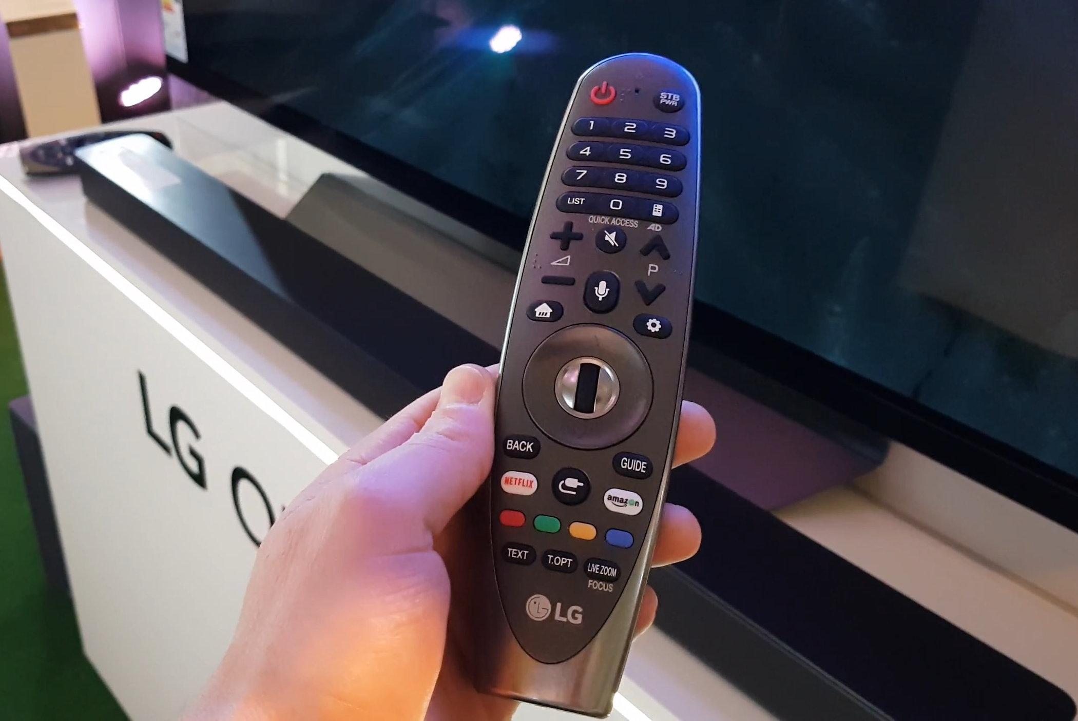 how lg magic remote controls stb