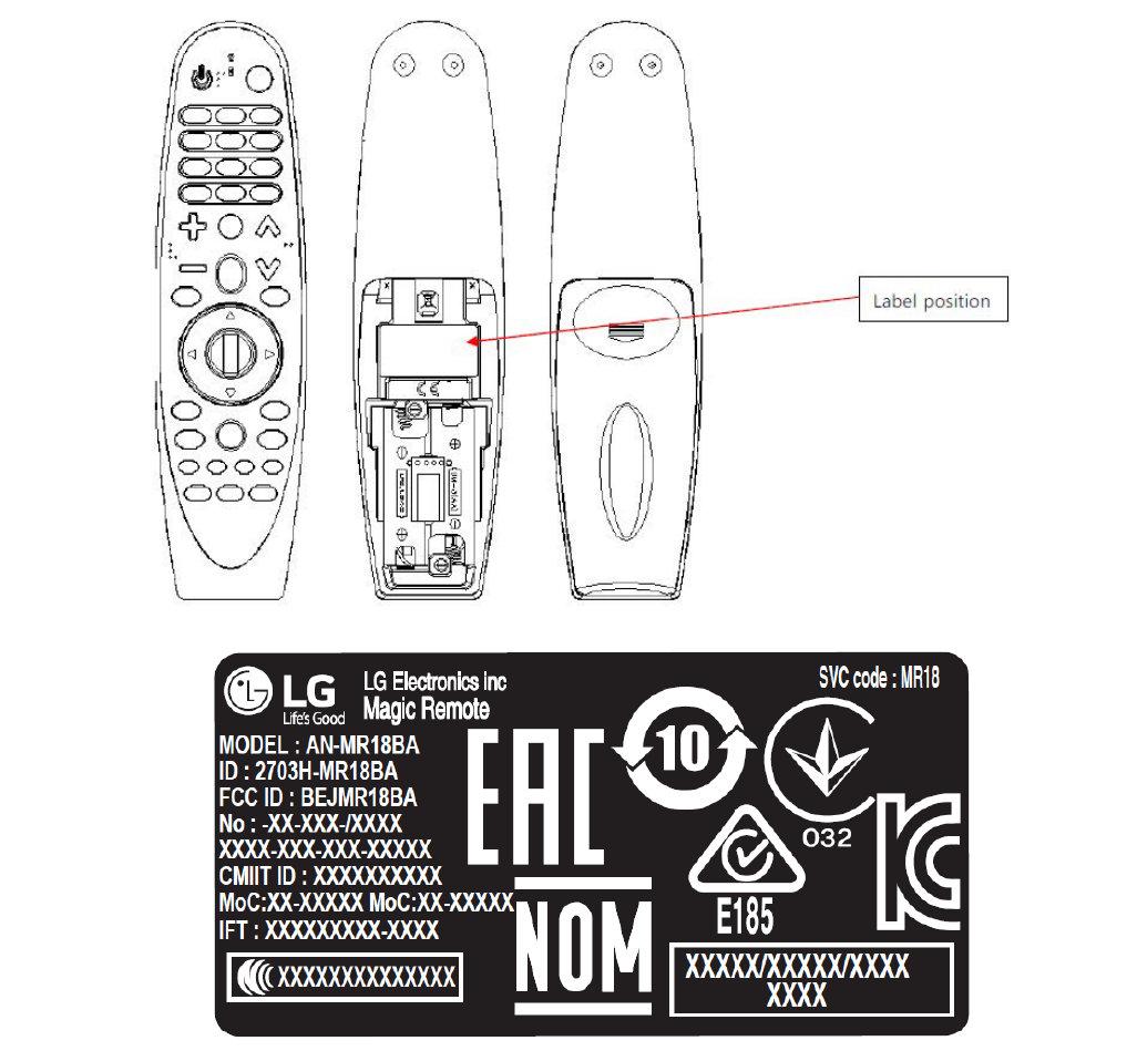 Пульт Magic Remote для телевизоров LG 2018 года